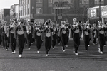 Marching Band Performs in the 1989 Homecoming Parade by Kearney State College